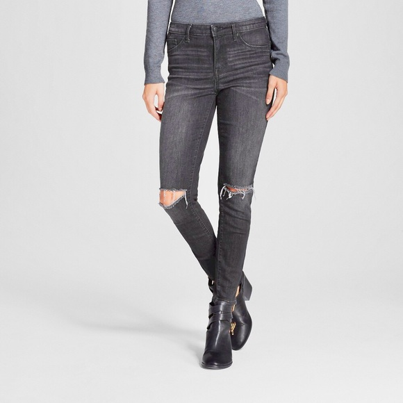 Mossimo Supply Co. Denim - Mossimo High Rise Distressed Skinny Jegging Jeans
